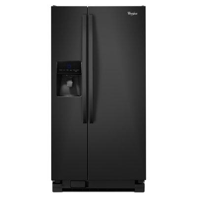 Whirlpool Black Side-By-Side Refrigerator