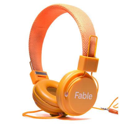 Vizit Fable Sound Headphone - Stereo - Orange - Wired - Over-the-head - Binaural - Circumaural (fbl1000org)