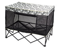 Quik Shade 42 in. W x 30 in. D Large Digital Camo Pattern Instant Pet Kennel with Mesh Bed 160229