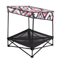 Quik Shade 24 in. W x 24 in. D Small Navajo Blanket Instant Pet Shade with Mesh Bed 160240