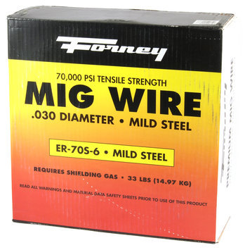 Forney Industries Mig Wire, Mild Steel E70S-6, .030-Diameter, 33-Pound Spool