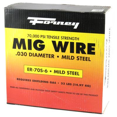 Forney Industries Mig Wire, Mild Steel E70S-6, .030-Diameter, 33-Pound Spool