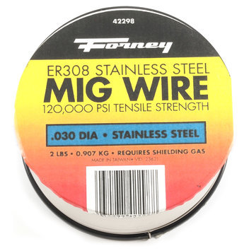 Forney Industries Mig Wire, Stainless Steel 308ER, .030-Diameter, 2-Pound Spool