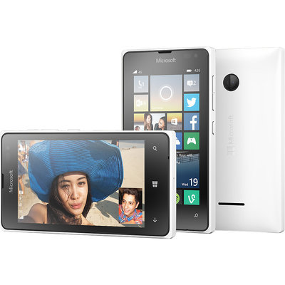 T-mobile - Microsoft Lumia 435 4g With 8GB Memory No-contract Cell Phone - White