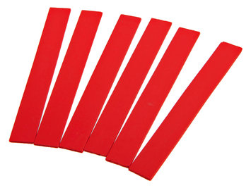 Forney Industries Inc Marking Pencil Refills, Red Thinline, 6-Pack