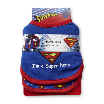 DC Comics Superman Infant Boy's 2 Pack Bibs - Kids With Character