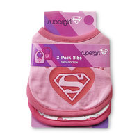DC Comics Supergirl Infant Girl's 2 Pack Bibs - Kids With Character