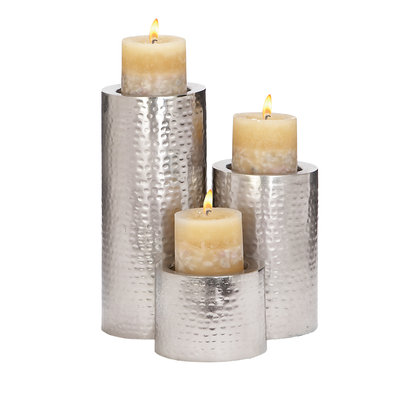 Ore International Metal Candle Holder (Set of 3)