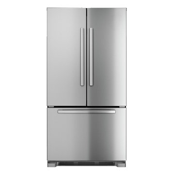 Bosch 800 Series B22CT80SNS 21.8 cu. ft. Counter-Depth French Door Refrigerator with Spill-Proof Glass Shelves, Humidity-Controlled Crispers, Internal Water Dispenser and Ice Maker
