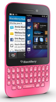 J.c. Hermans Floral Distributors, Inc. Blackberry Q5 SQR100-1 Unlocked GSM 4G LTE Dual-Core Keyboard Phone - Pink