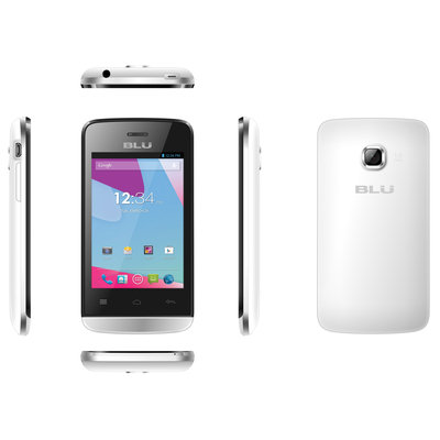 BLU Neo 3.5 S310L Unlocked GSM Dual-SIM White Android Cell Phone