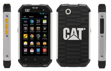 CAT B15Q Unlocked GSM Quad-Core Extremely Rugged Touchscreen Phone - Black
