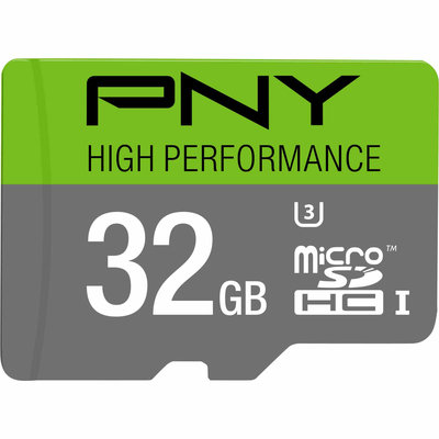 PNY High Performance 32GB microSDHC Class 10 UHS I U3 up to 60MB/sec Flash Memory Card - PNY ELECTRONICS, INC.