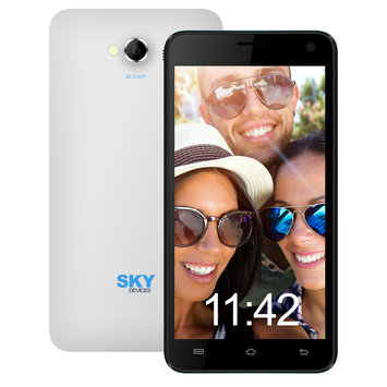 Cam Consumer Products, Inc. Sky Devices 5.0W 4GB 3G/4G Android4.4 Unlocked Smartphone (White)