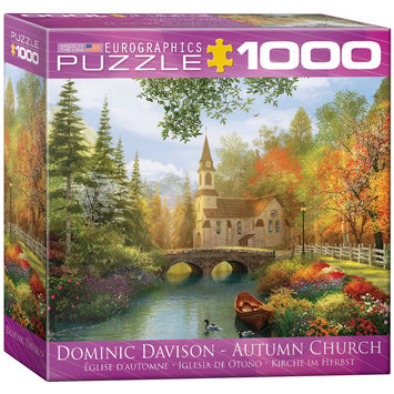 EuroGraphics 8000-0695 Autumn Church by Dominic Davidson 1000-Piece Puzzle (Small Box)