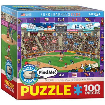 EuroGraphics 8100-0473 Baseball Spot & Find 100-Piece Puzzle (Small Box)
