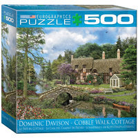Euro Graphics 8500-0457 Cobble Walk Cottage by Dominic Davidson 500-Piece Puzzle