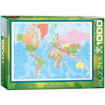 EuroGraphics 60001271 Map of the World Puzzle
