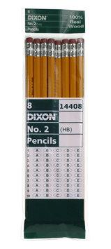 Dixon Usa Dixon Ticonderoga #2 Yellow Wood Cased Pencil 8 Count