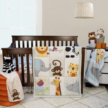 Bedtime Originals/lambs & Ivy Lambs & Ivy Zoomba 3-Piece Animal Crib Bedding Set