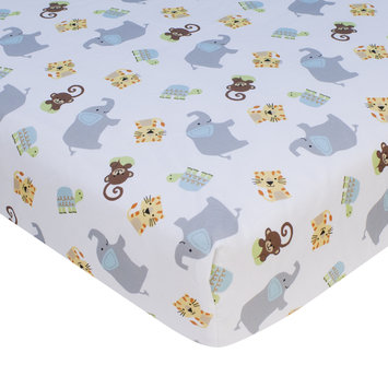 Bedtime Originals/lambs & Ivy Lambs & Ivy Zoomba Animals Fitted Crib Sheet