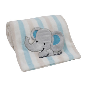 Bedtime Originals/lambs & Ivy Lambs & Ivy Zoomba Elephant Stripes Blanket