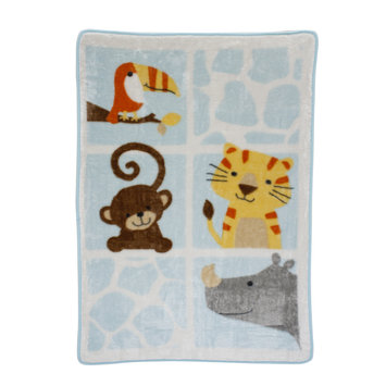Bedtime Originals/lambs & Ivy Lambs & Ivy Zoomba Animal Squares Blanket
