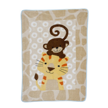 Bedtime Originals/lambs & Ivy Lambs & Ivy Zoomba Monkey and Tiger Blanket