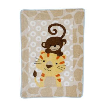 Bedtime Originals/lambs & Ivy Lambs & Ivy Zoomba Monkey and Tiger Blanket
