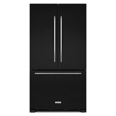 KitchenAid KRFC300EBL 20.0 Cu. Ft. Black Counter Depth French Door Refrigerator