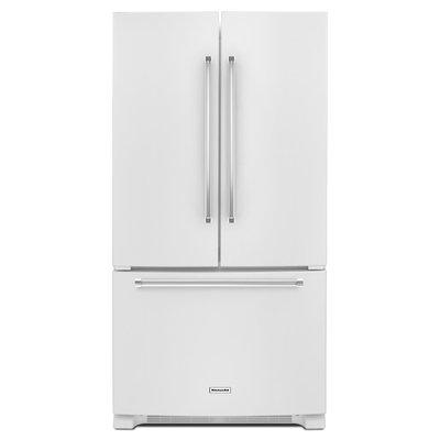 KitchenAid KRFC300EWH 20.0 Cu. Ft. White Counter Depth French Door Refrigerator