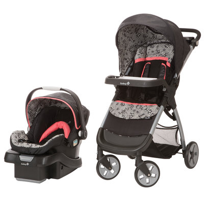 Dorel Juvenile Safety 1st Amble Luxe with onBoard 35 Car Seat Travel System in Gentle Lace