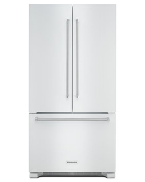 KitchenAid KRFC302EWH 22.0 Cu. Ft. White Counter Depth French Door Refrigerator