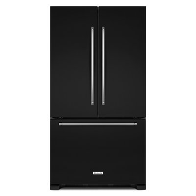 KitchenAid KRFC302EBL 22.0 Cu. Ft. Black Counter Depth French Door Refrigerator