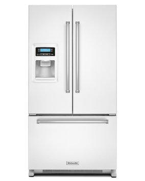 KitchenAid KRFC400EWH 20.0 Cu. Ft. White Counter Depth French Door Refrigerator