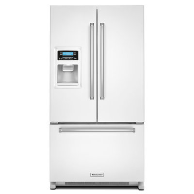 KitchenAid KRFC400EWH 20.0 Cu. Ft. White Counter Depth French Door Refrigerator