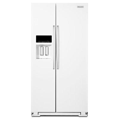 KitchenAid KRSF505EWH 25.0 Cu. Ft. White Side-By-Side Refrigerator
