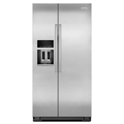 KitchenAid KRSC503ESS 23.0 Cu. Ft. Stainless Steel Counter Depth Side-By-Side Refrigerator