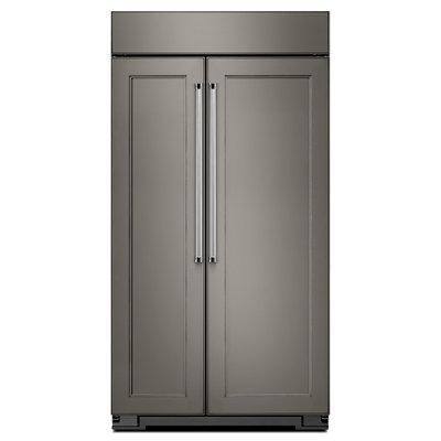 KitchenAid KBSN602EPA 25.5 Cu. Ft. Custom Panel Built-In Side-By-Side Refrigerator