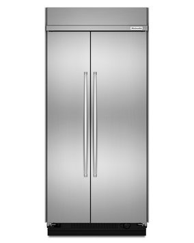 KitchenAid KBSN602ESS 25.5 Cu. Ft. Stainless Steel Built-In Side-By-Side Refrigerator