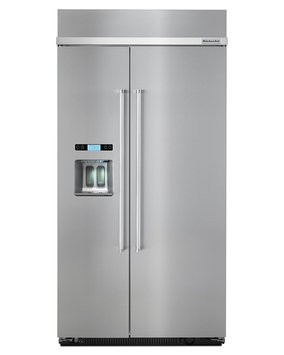 KitchenAid KBSD602ESS 25.0 Cu. Ft. Stainless Steel Counter Depth Built-In Side-By-Side Refrigerator - Energy Star