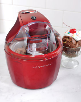 Helman Group Nostalgia Electrics - Retro 1.5-quart Ice Cream Maker - Red