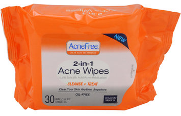 University Medical Acne Free -In-1 Acne Wipes 30 Ct