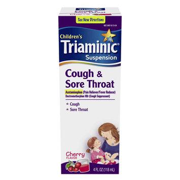 William H. Rorer, Inc. Children's Cough & Sore Throat Liquid Cherry Flavor 4 Oz.