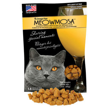 Omega Paw Meowmosa Salmon with Orange Juice Treats 3oz
