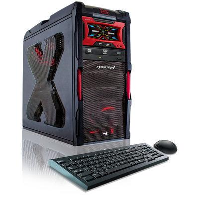 Sierra Accessories CybertronPC 4.00 GHz Striker VI AMD FX-8350 8-Core 16GB DDR3 Black Gaming PC w/2x GeForce GTX960 128GB SSD 1TB HDD DVDRW Win 8.1