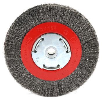 Forney Welding - 72751 - 6Inx1/2-5/8 Arbor Fine Wire Wheel - Part#: 72751