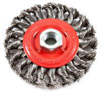 Forney Welding - 72759 - 4Inx5/8-11Thd Knot Wire Wheel - Part#: 72759