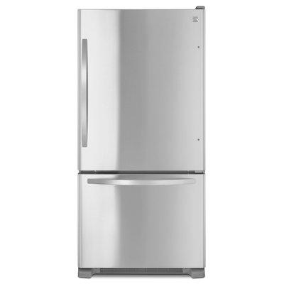 Kenmore 22 cu. ft. Single Door Bottom Freezer - Stainless Steel