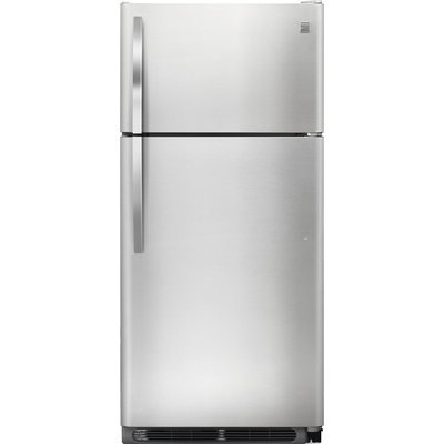 Kenmore 18 cu. ft. Top Freezer Refrigerator w/ Glass Shelves - Stainless Steel